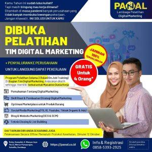 Pelatihan Digital Marketing & Penyaluran Tenaga Kerja