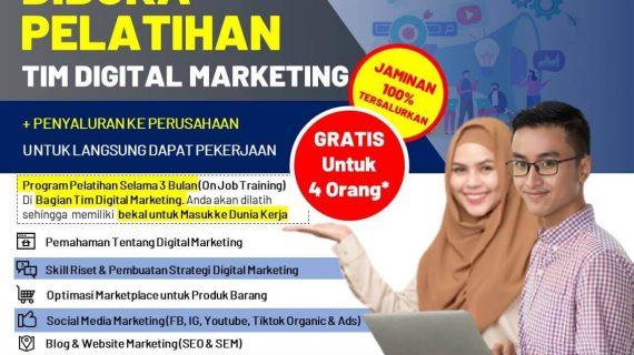 GRATIS!!! Program Pelatihan Digital Marketing dan Penyaluran ke Perusahaan WA 0858-5393-2925